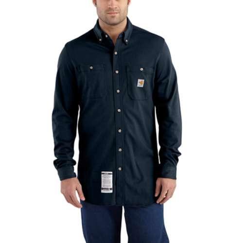 Carhartt Flame-Resistant Force Cotton Hybrid Navy Shirt
