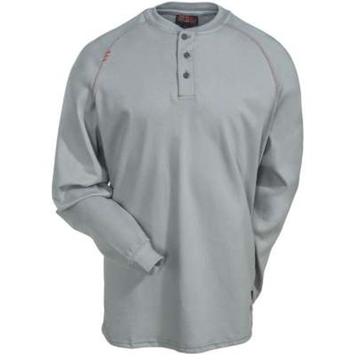 Ariat Flame Resistant Silver Grey Work Henley