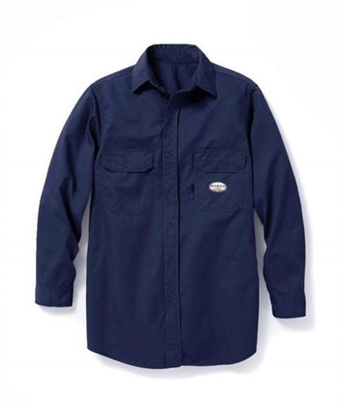 Rasco Flame Resistant Dress Shirt Navy Blue