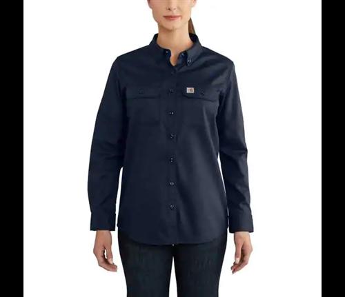 Carhartt Women's Rugged Flex Twill Shirt Navy