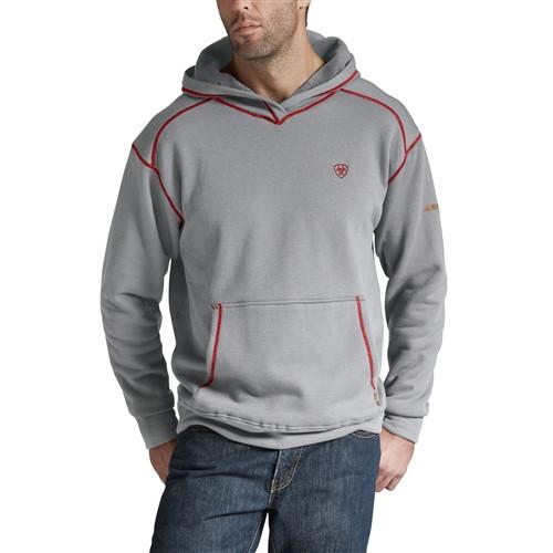 Ariat FR Polartec Heather Grey Hooded Sweatshirt 10014867