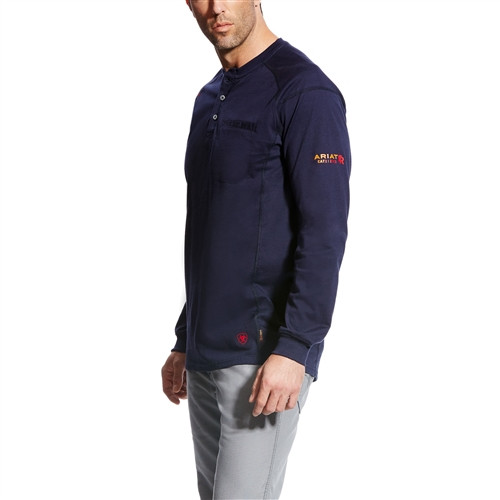Ariat Flame Resistant Air Navy Work Henley