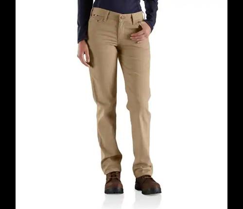 Carhartt Women's Rugged Flex Khaki Canvas Pants
