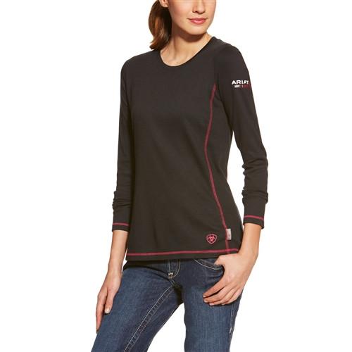 Ariat Women's FR Polartec Power Dry Long Sleeve Shirt- Black