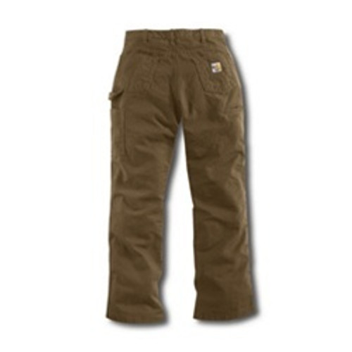 Carhartt Khaki Flame Resistant Loose-Fit Midweight Canvas Jean