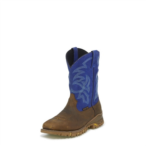 Tony Lama Roustabout Blue ST Waterproof Boot