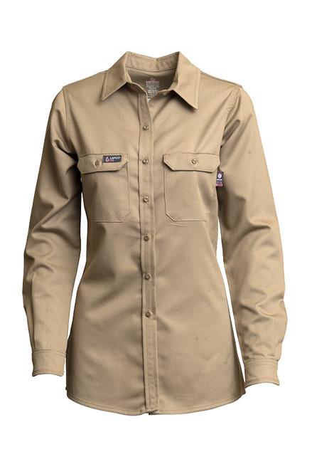 Women's Lapco FR Advanced Comfort Khaki Uniform Shirt
