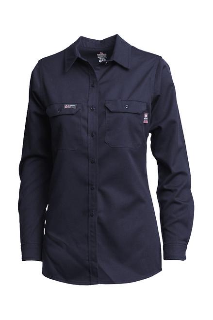 Women's Lapco FR Advanced Comfort Navy Uniform Shirt