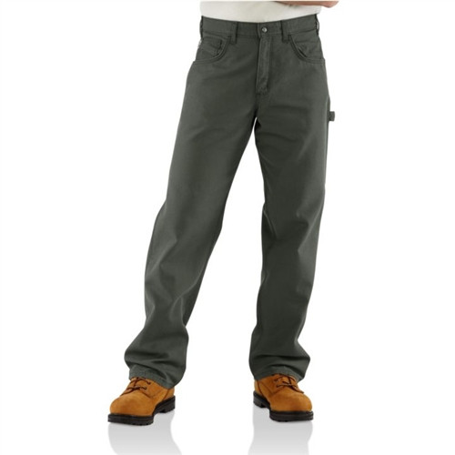 Carhartt Moss Green Flame Resistant Loose-Fit Midweight Canvas Jean FRB159MOS