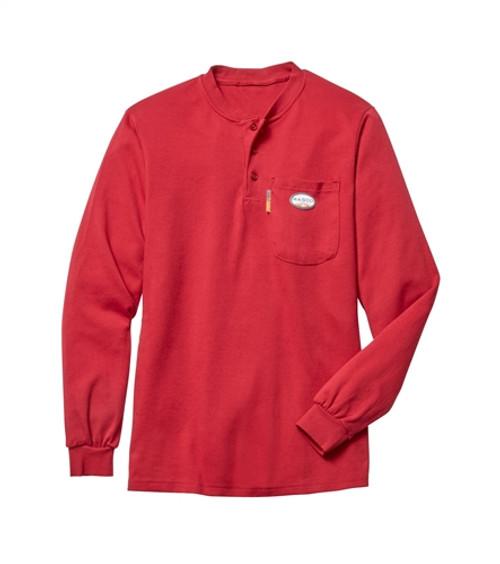 Rasco FR Red Henley Shirt