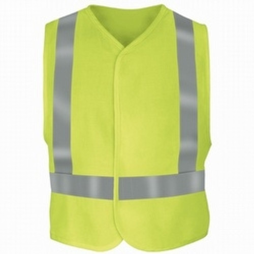 Bulwark Flame Resistant Yellow/Green Hi-Visibility Safety Vest