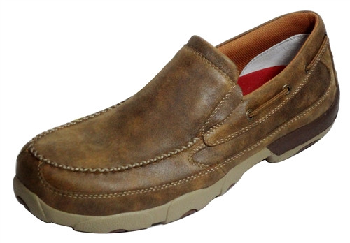 Twisted X Men's Slip-On Driving Bomber Moccasins