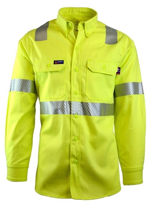 Lapco 7oz FR Hi-Vis Uniform Shirt - Class 2