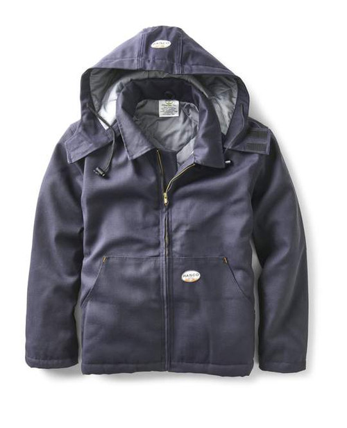 Rasco Flame Resistant Navy Quilted Insulated Jacket