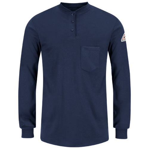 Bulwark Women's Flame-Resistant Excel Long-Sleeve Henley Shirt SEL3NV