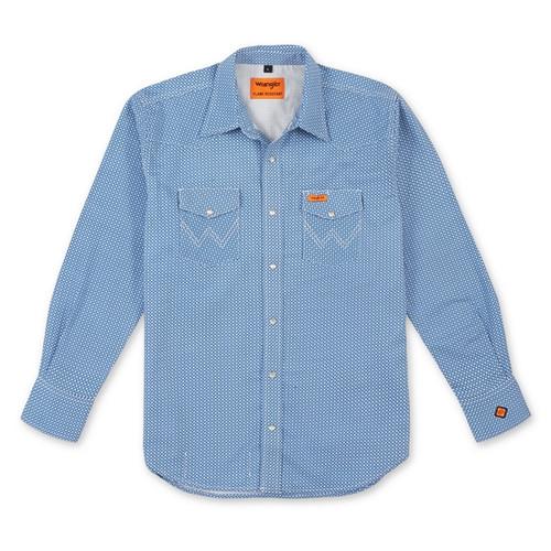 Wrangler Men's FR Blue Work Shirt