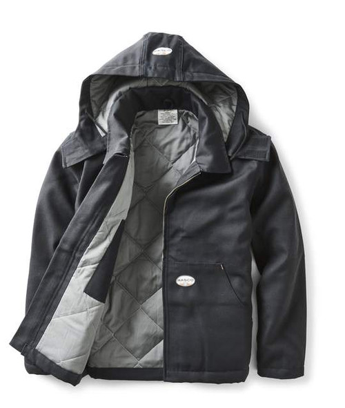 Rasco Flame Resistant Black Quilted Insulated Jacket