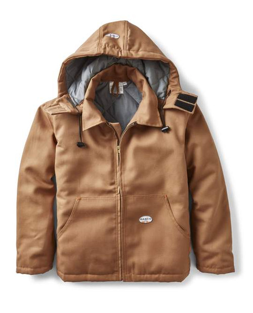 Rasco Flame Resistant Brown Quilted Insulated Jacket