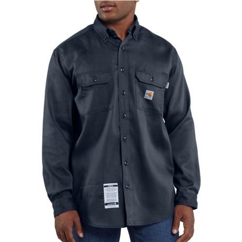 Carhartt Flame-Resistant Lightweight Twill Dark Navy Tradesman Shirt