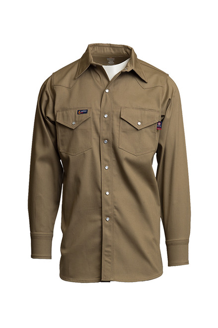 Lapco Fire Resistant Western Shirt Khaki