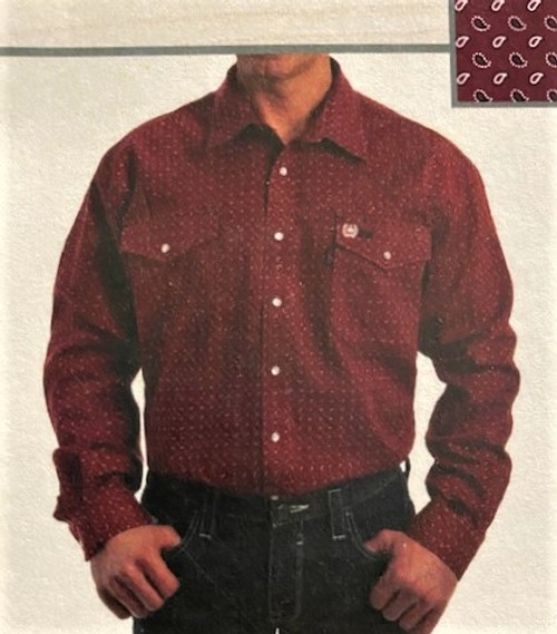 Cinch FR WRX Red Print Work Shirt