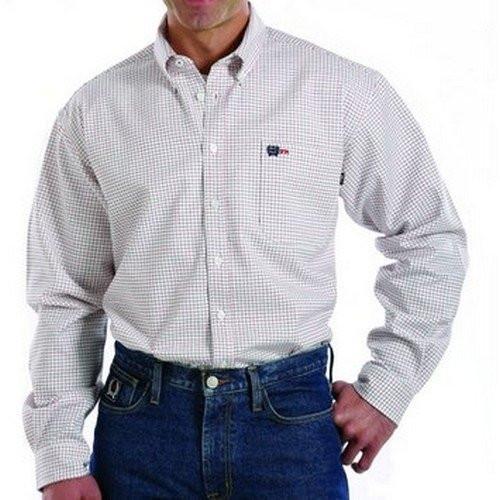 Cinch FR WRX Red & Royal Blue Plaid Work Shirt