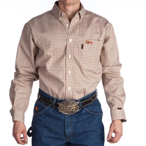Cinch FR WRX Brown Plaid Work shirt
