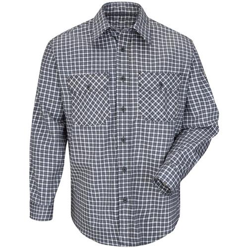 Bulwark Flame Resistant Navy/Khaki Plaid Uniform Shirt