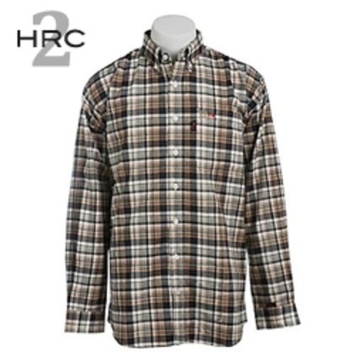 Cinch FR WRX Black & Brown Plaid Work Shirt