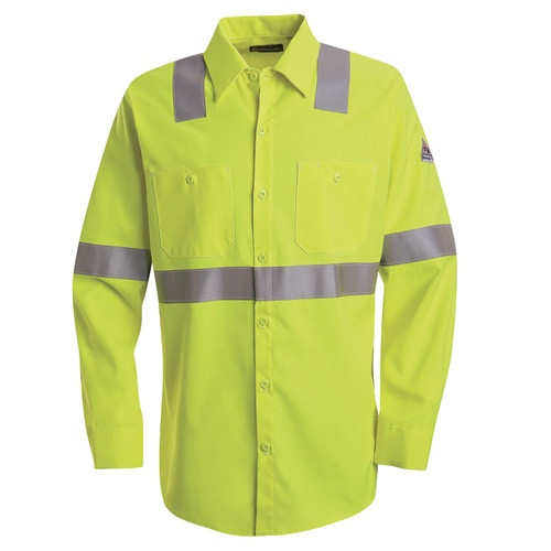 Hi-Visibility Flame Resistant Work Shirt Yellow/Green
