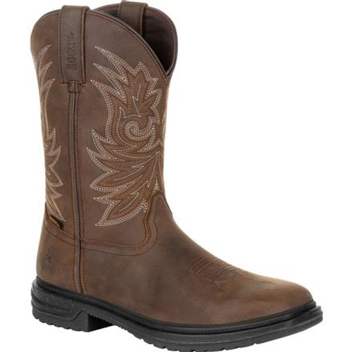 "Rocky Worksmart 11"" Composite Toe Western Boot"