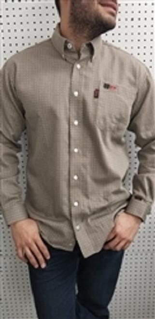 Cinch FR WRX Tan Geometric Print Work Shirt