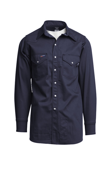 Lapco Fire Resistant Western Shirt Navy