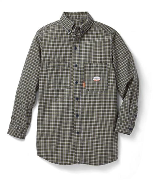 Rasco Flame Resistant Green Plaid Workshirt
