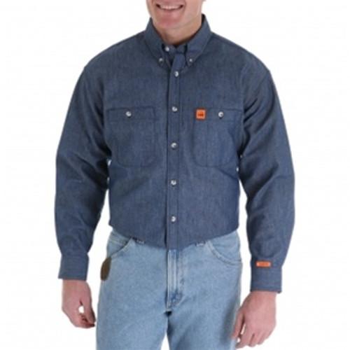 Wrangler Riggs Flame Resistant Denim Work Shirt