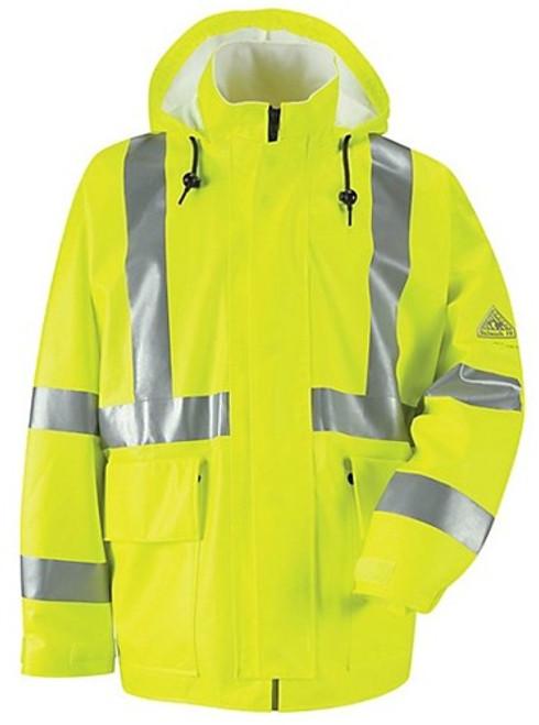Bulwark Hi-Visibility Flame Resistant 10 oz Rain Jacket