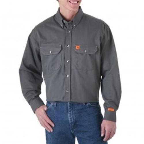 Wrangler Riggs Flame Resistant Grey Work Shirt