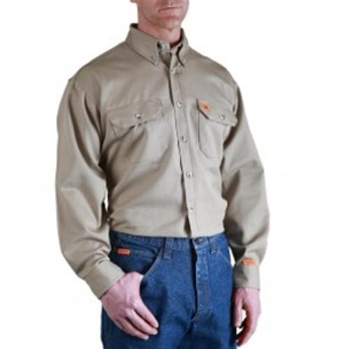 Wrangler Riggs Flame Resistant Khaki Work Shirt