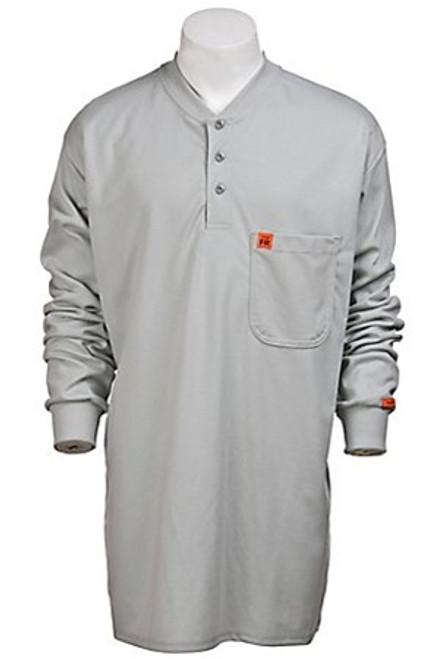 Wrangler Riggs Flame Resistant Gray Henley T-Shirt