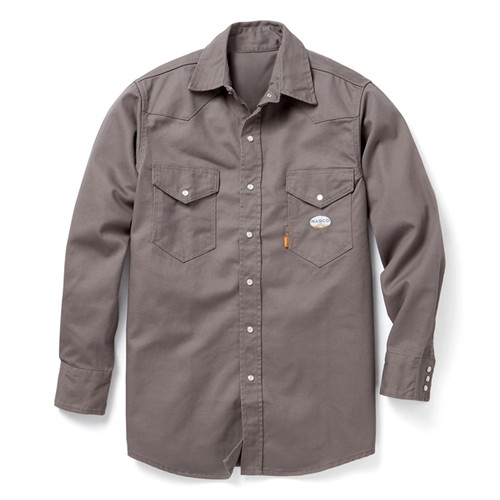 Rasco Flame Resistant Grey Button-Up Workshirt FR1004GY