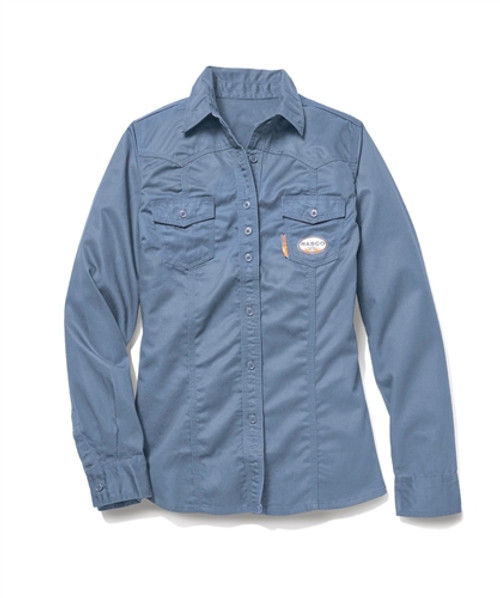 Women's Rasco FR Work Blue Shirt