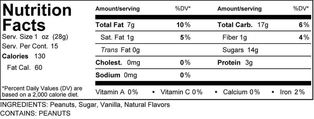 Vanilla Rum Peanuts (Bulk, by the lb.)
