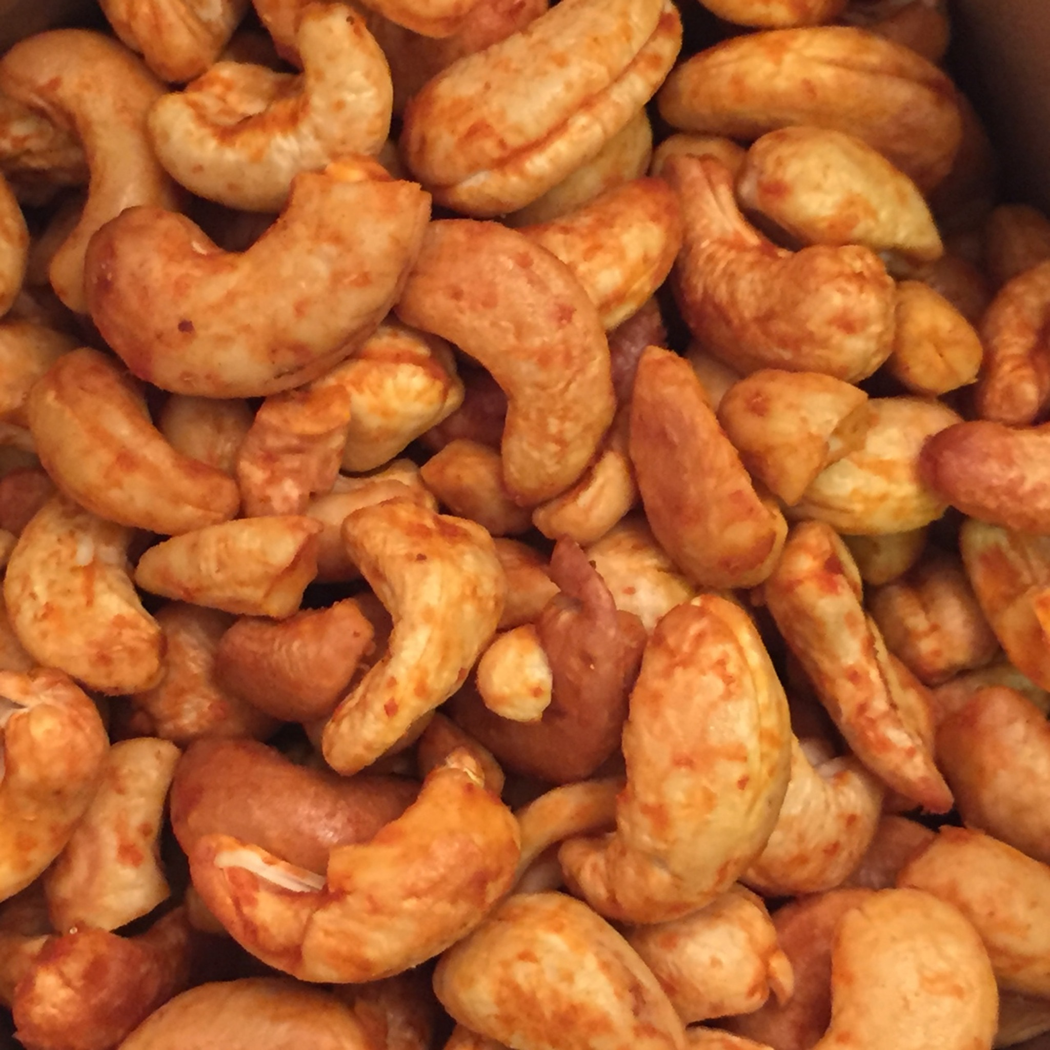 Sriracha Cashews Dry Roasted Low Carb Bulk 12 or 25 Lb