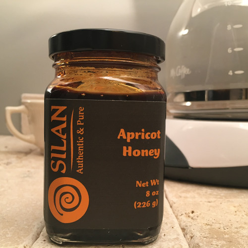 100% Pure Apricot Honey - 8 oz. Jar