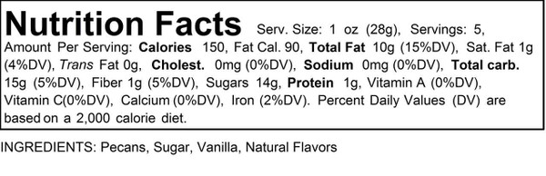 38 oz Jar Flavored Pecans