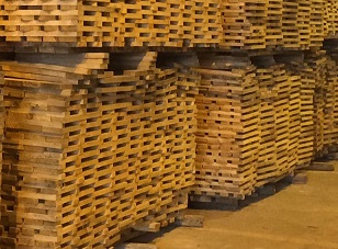 stacks of barrel staves