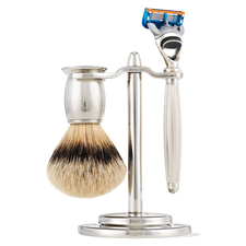 Fusion Engraved Nickel Plated Shaving Set