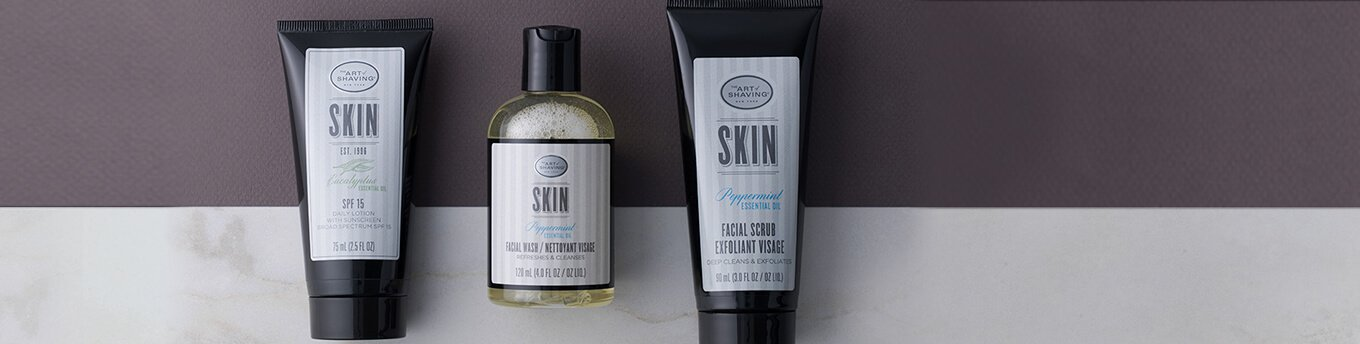 Art of Shaving Face Wash, Face Scrub, and SPF Moisturizer