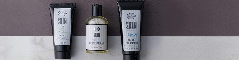 Art of Shaving Face Wash, Face Scrub, and SPF Moisturizer