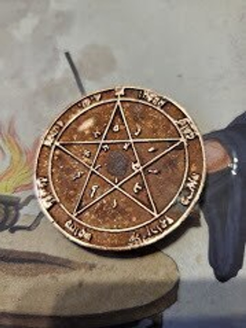 3rd Greater Key of  Solomon GKOS pendant for  Saturn 1